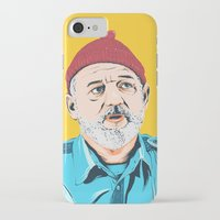 steve zissou iPhone & iPod Cases featuring Steve Zissou by Jeroen van de Ruit