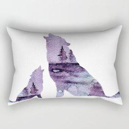 Howling Wolves Rectangular Pillow