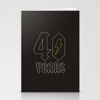 acdc Stationery Cards featuring ACDC/40 Years by Byway
