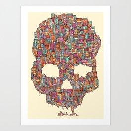 OldSkull City Art Print