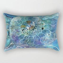Aqua seashell - mother of pearl - Beautiful backdrop Rectangular Pillow
