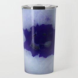 Deep Purple Agate Slice Travel Mug