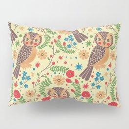The Vintage Horned Owl Pillow Sham