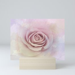 Forever My Love Pink Rose Abstract Mini Art Print