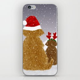 Cute Dogs Holiday Design iPhone Skin