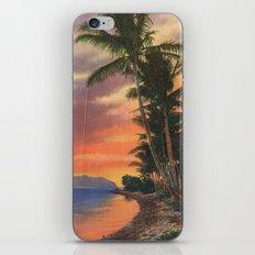 SUNSET PALM TREES #2 iPhone & iPod Skin