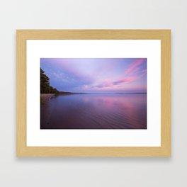Pastel Sunset   Upper Peninsula   Pictured Rocks National Lakeshore   John Hill Photography Framed Art Print