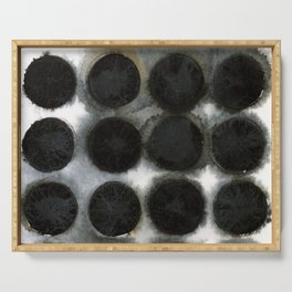 WATERCOLOUR DISCS: Black Spinel Serving Tray