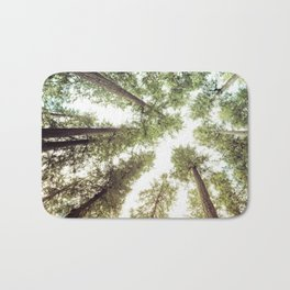 Green Forest Sky Trees Bath Mat