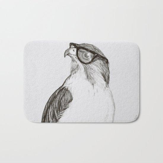 Hawk with Poor Eyesight Bath Mat