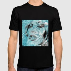 pieces of glass Black Mens Fitted Tee MEDIUM