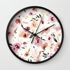 Wild Pansies Wall Clock