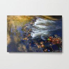 Falling colors down the river Metal Print