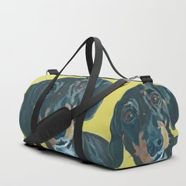 Dachshund Dog Portrait Duffle Bag