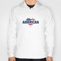 american Hoodies featuring American by AmazingVision