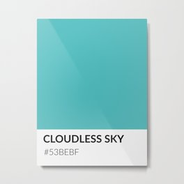 Cloudless Sky - Color Swatch Collection Metal Print