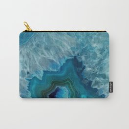 Agate Crystal Slice Carry-All Pouch