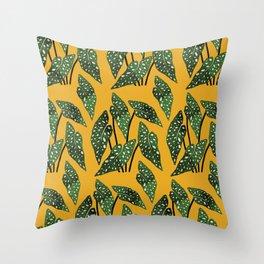 Begonia maculata pot watercolor Throw Pillow