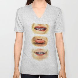 Lips with emotions Unisex V-Neck