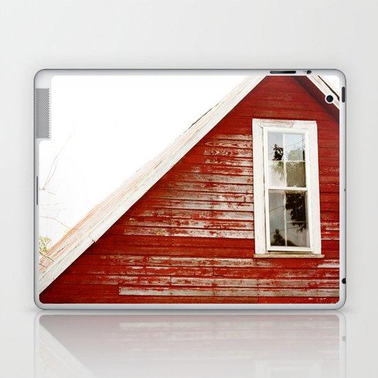 Red Barn Window Laptop & iPad Skin