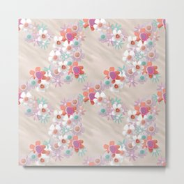 Rumpled Blossoms Metal Print