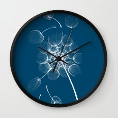 Dandelion Blue Wall Clock