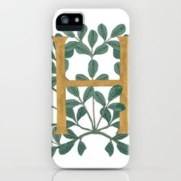 Forest Letter H Lite 2020 iPhone Case