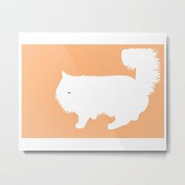 Cat Silhouettes: Ragamuffin Metal Print