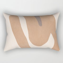 abstract minimal girl Rectangular Pillow