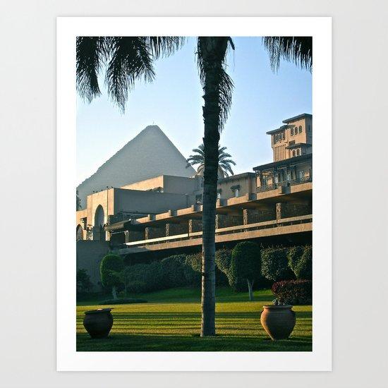 Pyramid Meets City  Art Print