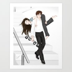 taking the stairs Art Print