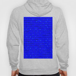 The Bright Blue Brick Wall Background Hoody