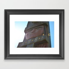 changing faces Framed Art Print