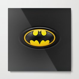 Bat Man Origins Logo Metal Print