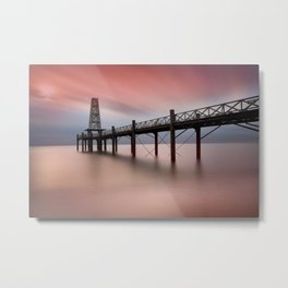 Wooden Pier Metal Print