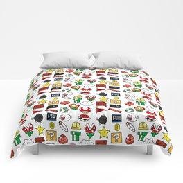 Super Mario Pattern Color Comforters