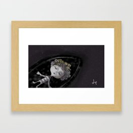 Stargazer + Night Sea Framed Art Print