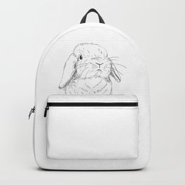 Curious Holland Lop Bunny Backpack