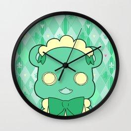 Monochromatic Kuma Lulu Wall Clock
