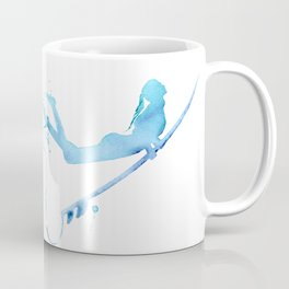 Duck Diving - Surf Art of Surfer Girl Coffee Mug