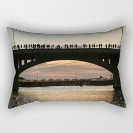 People at sunset Rectangular Pillow