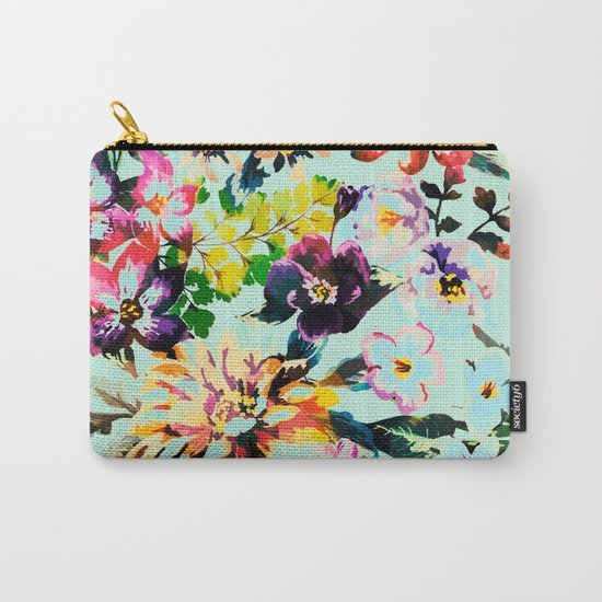 flowers in the wind Carry-All Pouch