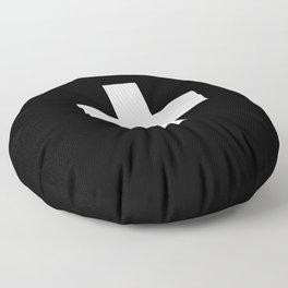 Swiss Cross Black and White Scandinavian Design for minimalism home room wall decor art apartment Floor Pillow