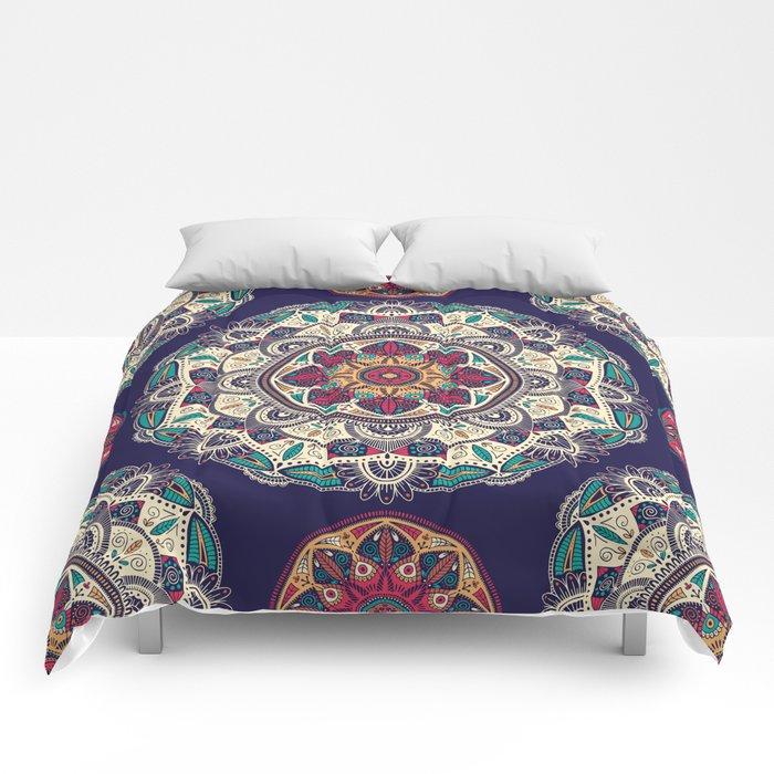 Colorful Mandala Pattern 007 Comforters