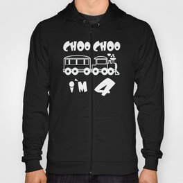 Choo Choo I'm 4 Children's Birthday Train Hoody