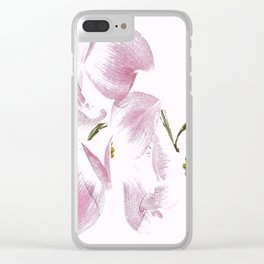 Dogwood Tree Flowers-pink Clear iPhone Case