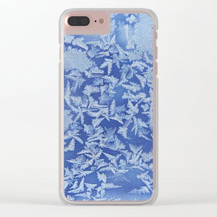 Blue Frozen Freeze Clear iPhone Case