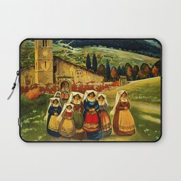 Vintage Abruzzo Italy Travel Laptop Sleeve