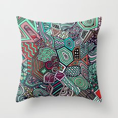 Jolly Geometric Throw Pillow