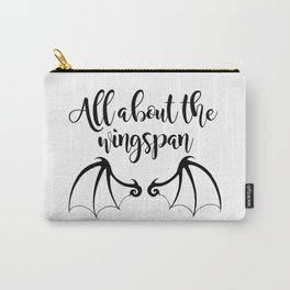 All about the wingspan white design Carry-All Pouch